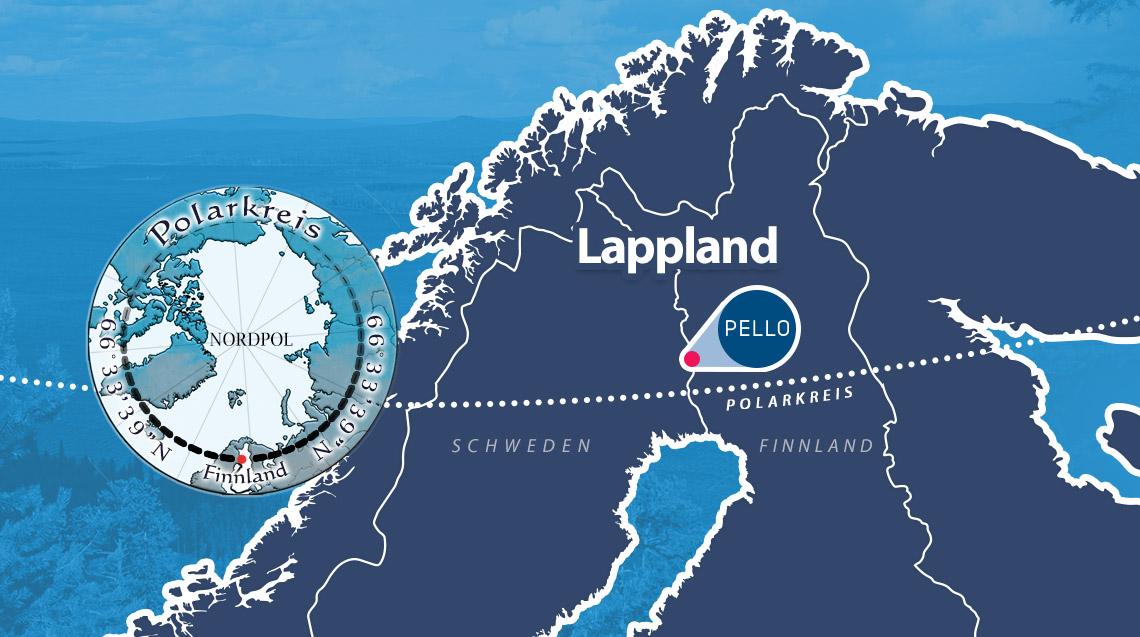 Polarkreis Pello Lappland Finnland