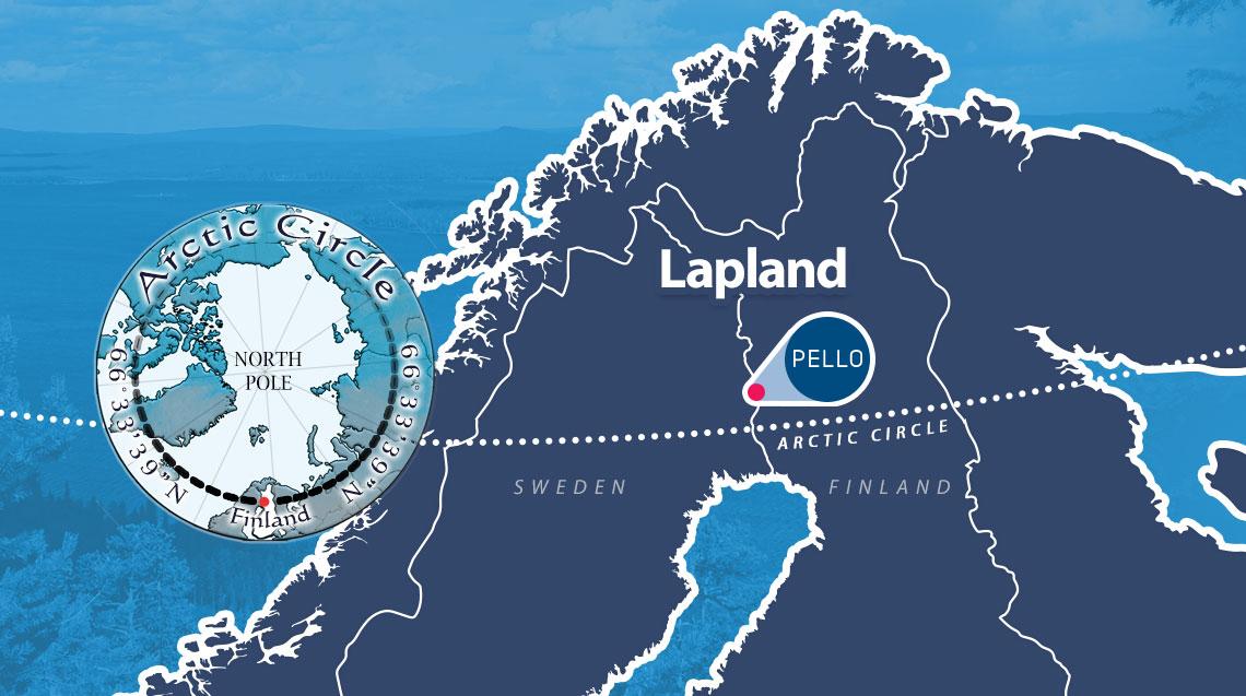 arctic circle pello lapland finland