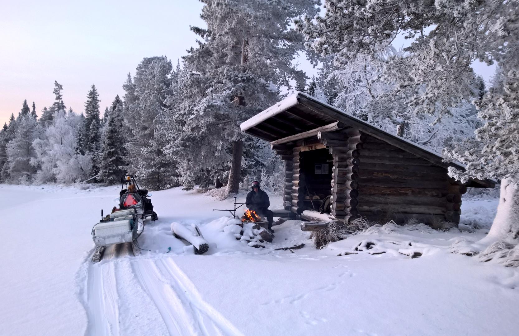 Winter view from Miekojärvi in Pello in Finnish Lapland ...