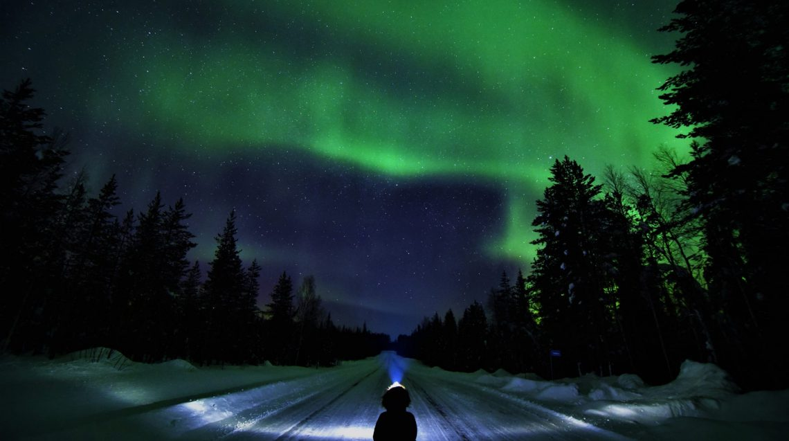 Northern Lights Pello In Tornio River Valley In Lapland Travel